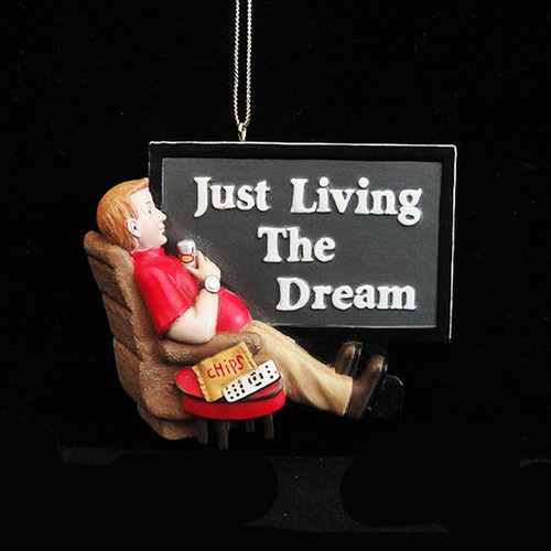 Just Living The Dream In My Man Cave Ornament