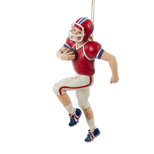 Personalized Ornament Football Boy Running With Ball 5 Inch  sport ornaments ornaments for sports players athlete ornament ornament for athlete gift for athlete football ornament