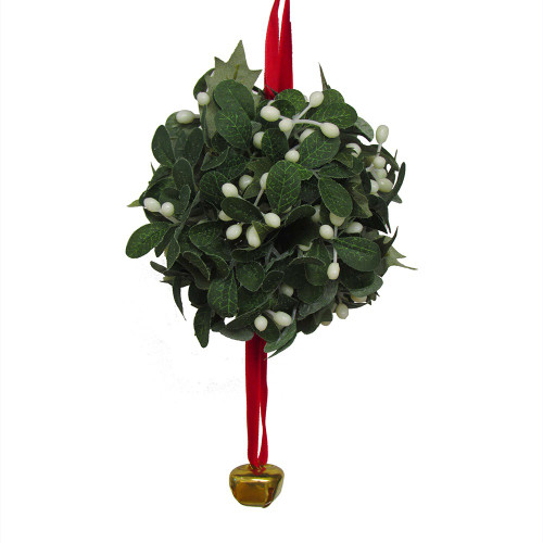 Artificial Mistletoe Ball with Hanging Bell