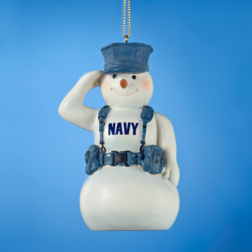 U.S. Navy Snowman Personalized Ornament