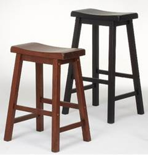 Solid Wood Saddle Stools