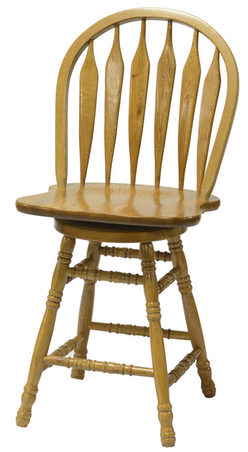 24in. Colonial Windsor Bowback Barstool