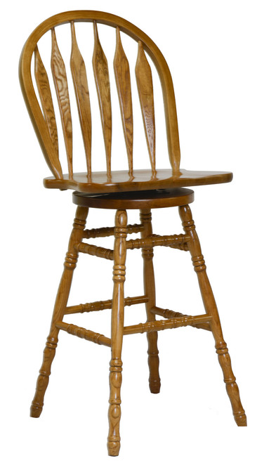 30in. Colonial Windsor Bowback Barstool