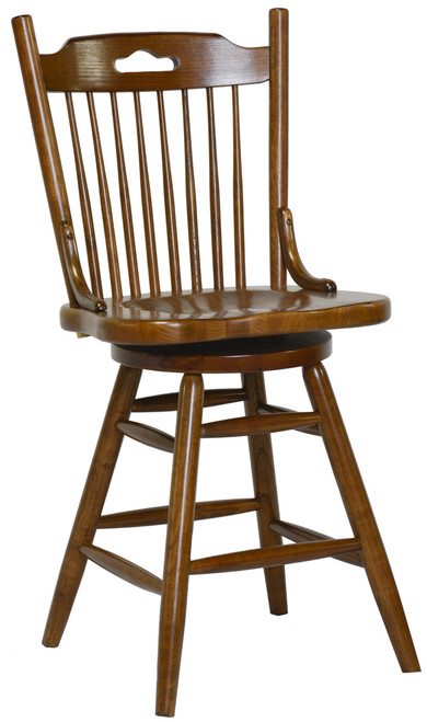 24in.  Farmhouse Swivel Barstool