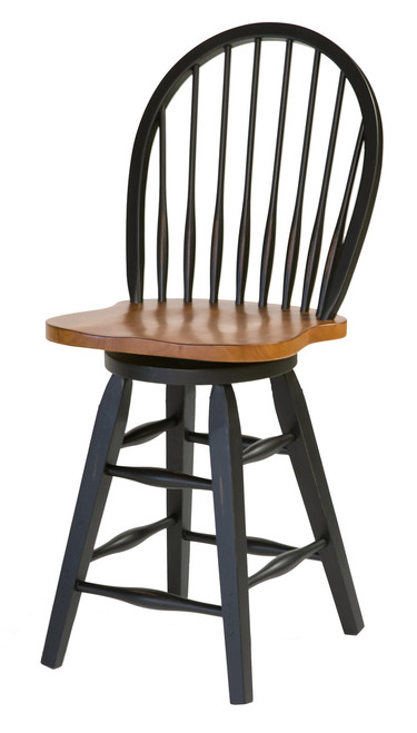 Urban Country 24in. Barstool - Two-Tone or Black  19in. x 18in. x 42in.