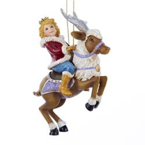 Prince/Princess On Reindeer Ornament