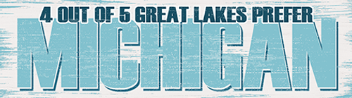 4 Out Of 5 Great Lakes Prefer Michigan Wood Magnet