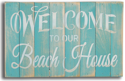 Wood Sign - Welcome To Our Beach House