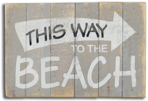 Wood Sign - This Way To The Beach