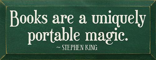 Wood Sign - Books Are A Uniquely Portable Magic