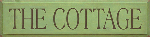 Wooden Sign - The Cottage