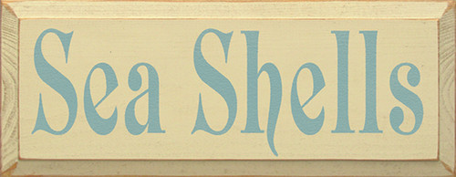 Sea Shells Wood Sign