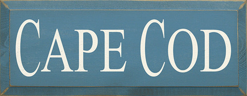Cape Cod Wood Sign