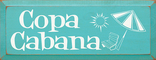 Copa Cabana Wood Sign