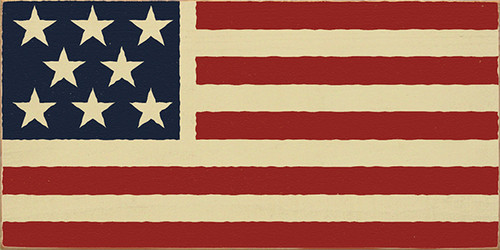 Wood Sign - American Flag