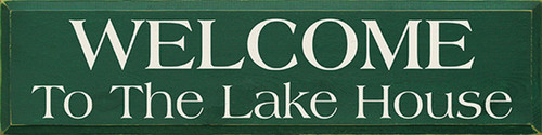 Welcome To The Lake House 36in. Wood Sign