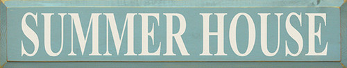 """Summer House Wood Sign  36""""W x 7""""H  Proudly Made in America"""
