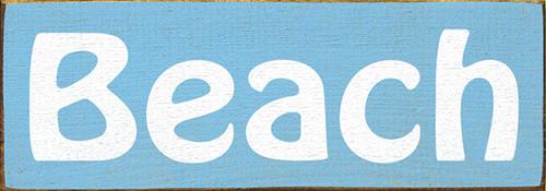 Wood Sign - Beach