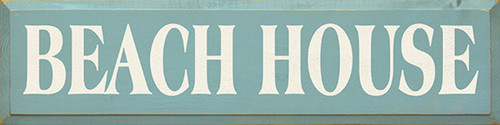 Beach House Wooden Sign
