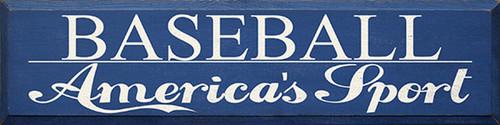 Baseball America's Sport Wood Sign