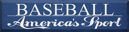 Baseball America's Sport Wood Sign