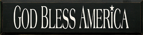 God Bless America Wood Sign