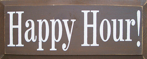 Happy Hour! Wood Sign