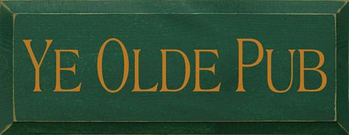Ye Olde Pub Wood Sign