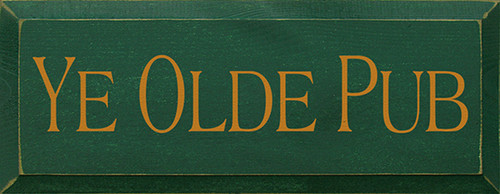 Ye Olde Pub Wood Sign
