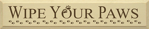 Wipe Your Paws Wood Sign 36in.