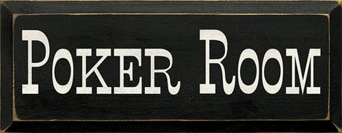 Wood Sign - Poker Room