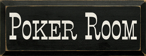 Wood Sign - Poker Room