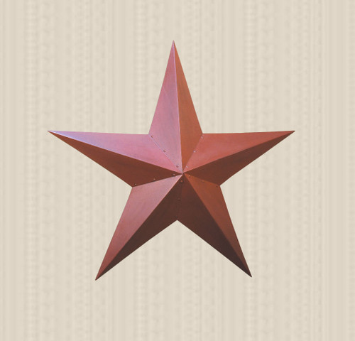 36in. Burgundy Metal Barn Star
