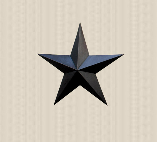 36in. Black Metal Barn Star