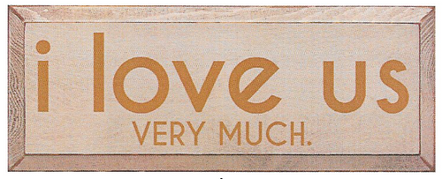 Wood Sign - I Love Us Very Much