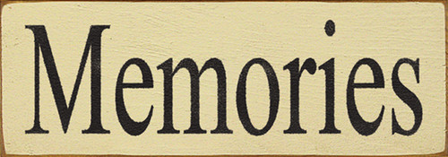 Wood Sign - Memories