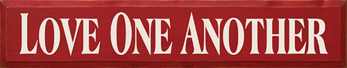 Wood Sign - Love One Another 36in.