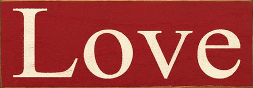 Wood Sign - Love 3.5x10