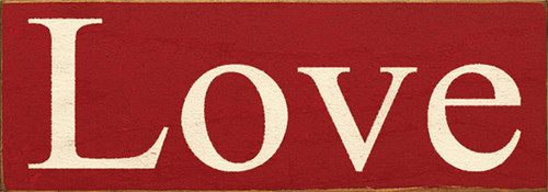 Wood Sign - Love 3.5x10