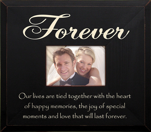 Forever—Our lives are tied together with the heart of happy memories, the joy of special moments and love that will last forever. Wood Sign