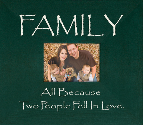 Wood Frame - Family All Because Two People Fell In Love