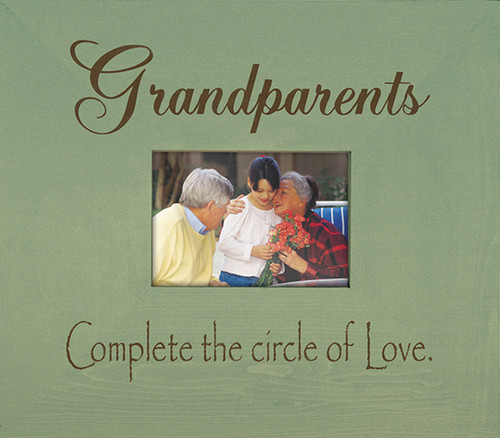 Wood Frame - Grandparents Complete The Circle Of Love