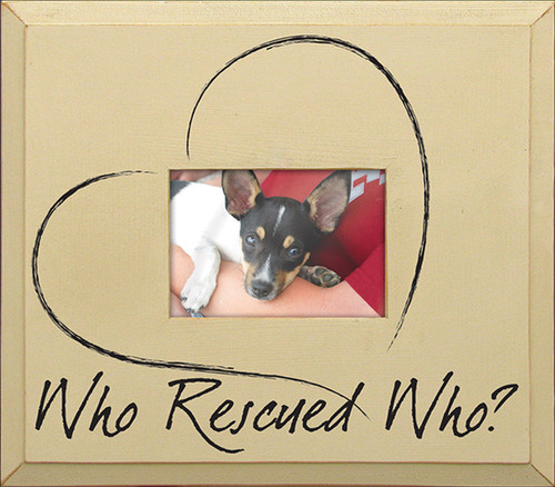 Wood Picture Frame - Who Rescued Who?