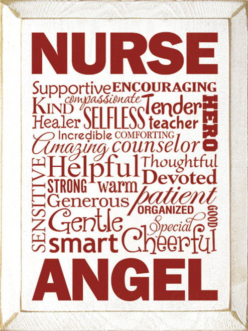 Wood Sign - Nurse Description