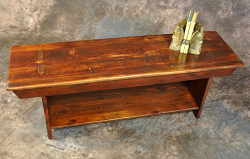 Rustic Reclaimed Wood 4' Bench 4L x 14D x 18H