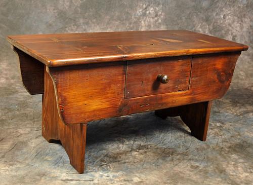 Rustic Reclaimed Wood Cobbler Bench 36L x 16D x 18H