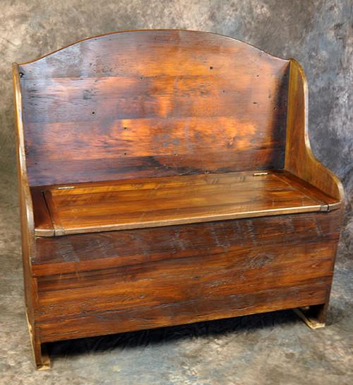 Rustic Reclaimed Woodbox Bench 48L x 30W 18H