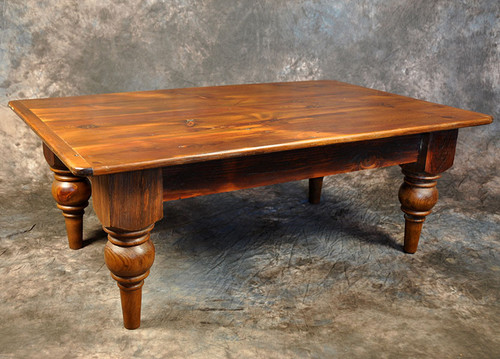 "Rustic Reclaimed Wood Plantation Coffee Table 1"" Top 48L x 30D x 18H"