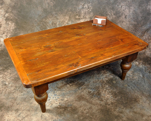 "Rustic Reclaimed Wood Plantation Coffee Table 2"" Top 48L x 30D x 18H"