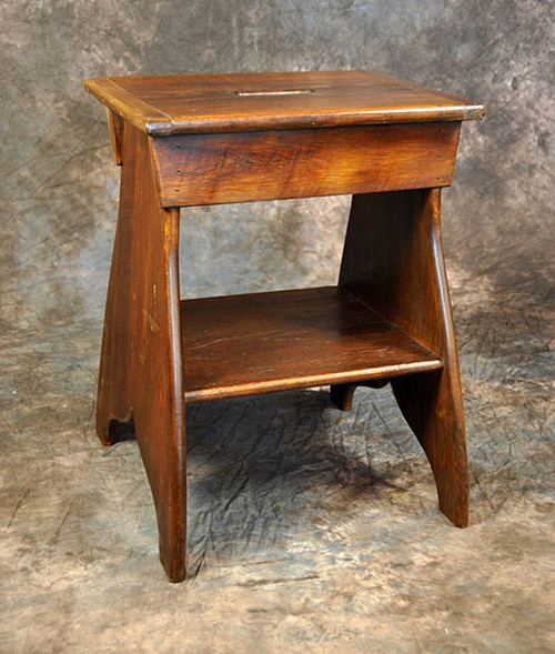 Rustic Reclaimed Wood Bench End Table 19L x 14D x 24H